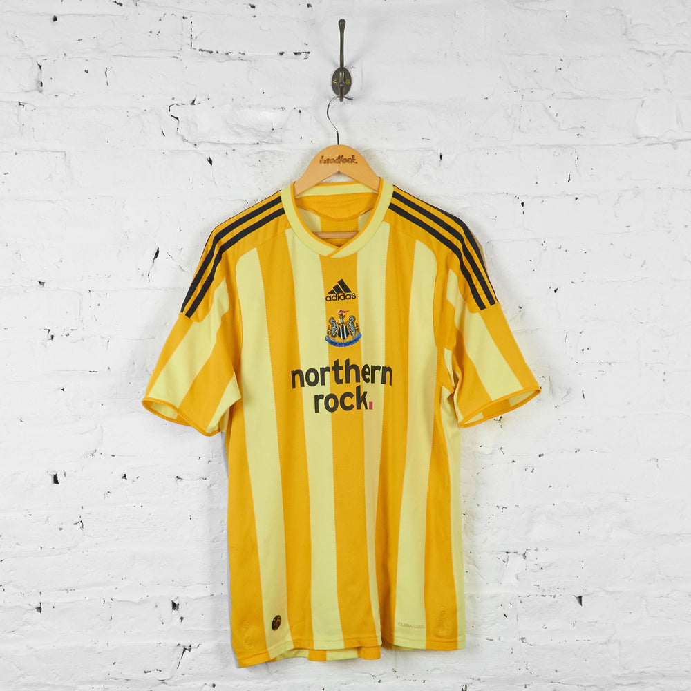 Newcastle United 2009 Adidas Away Football Shirt - Yellow - XL - Headlock