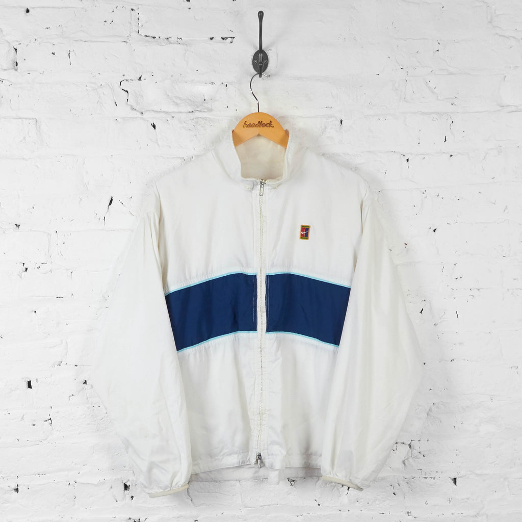 Nike Shell Tracksuit Top Jacket - White - L - Headlock