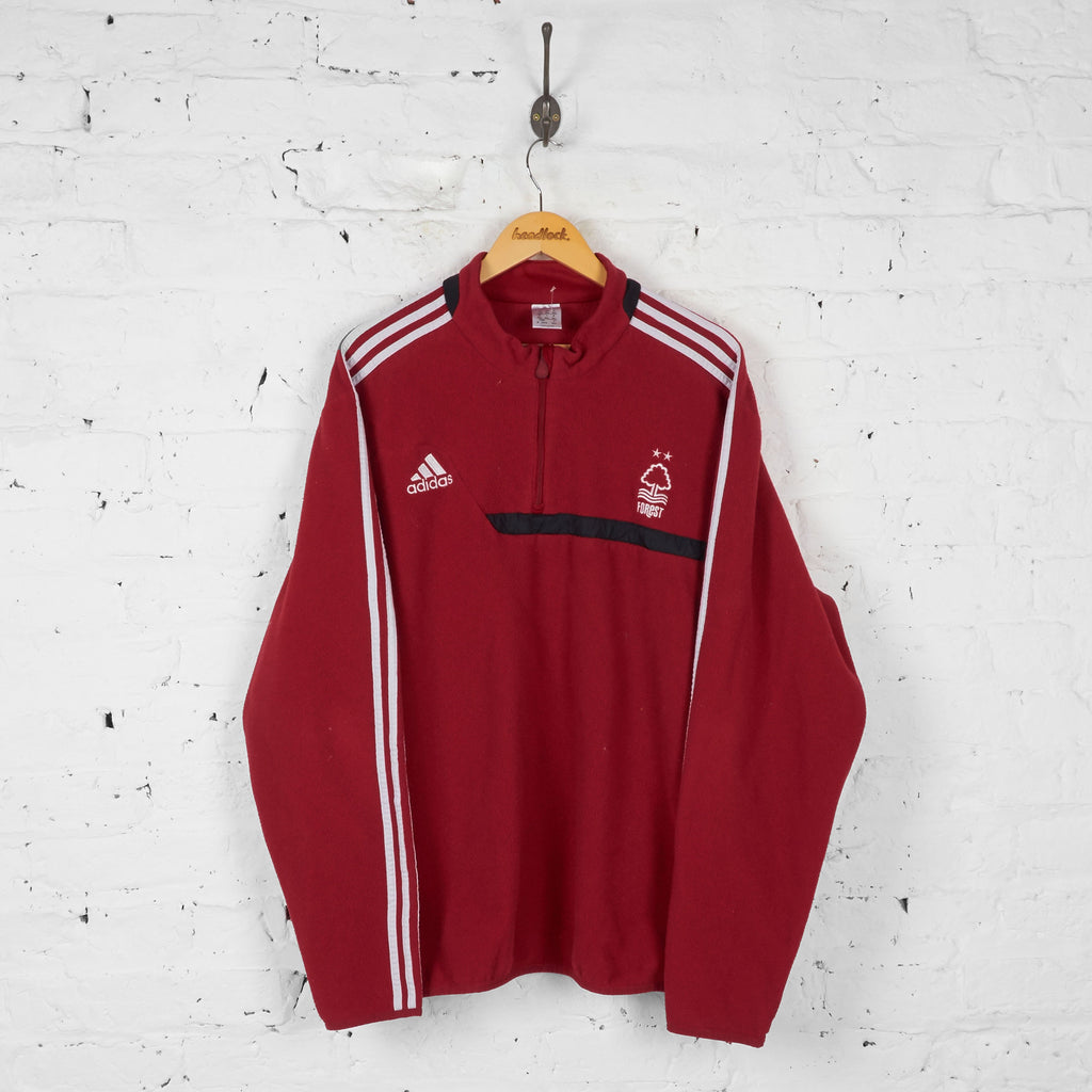 Nottingham Forest Adidas 1/4 Zip Fleece - Red - XXXL - Headlock