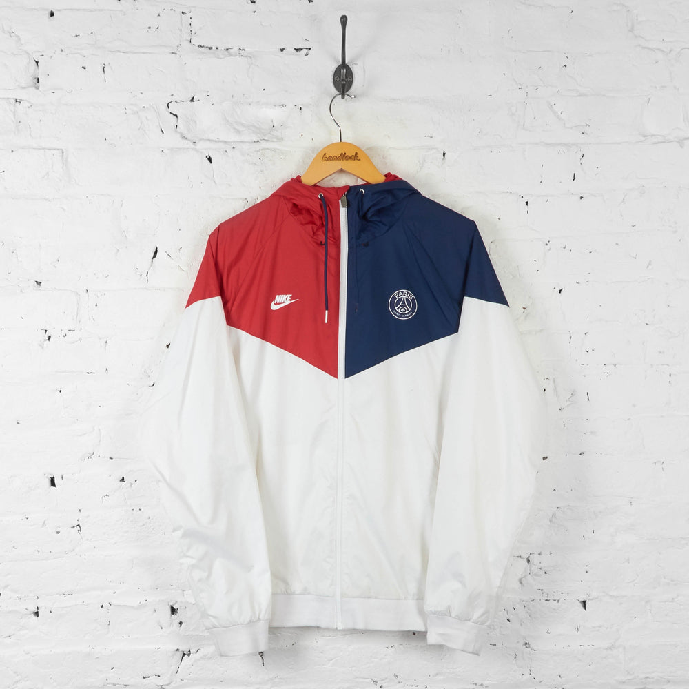Paris Saint Germain PSG Windbreaker Tracksuit Top Jacket - White - L - Headlock