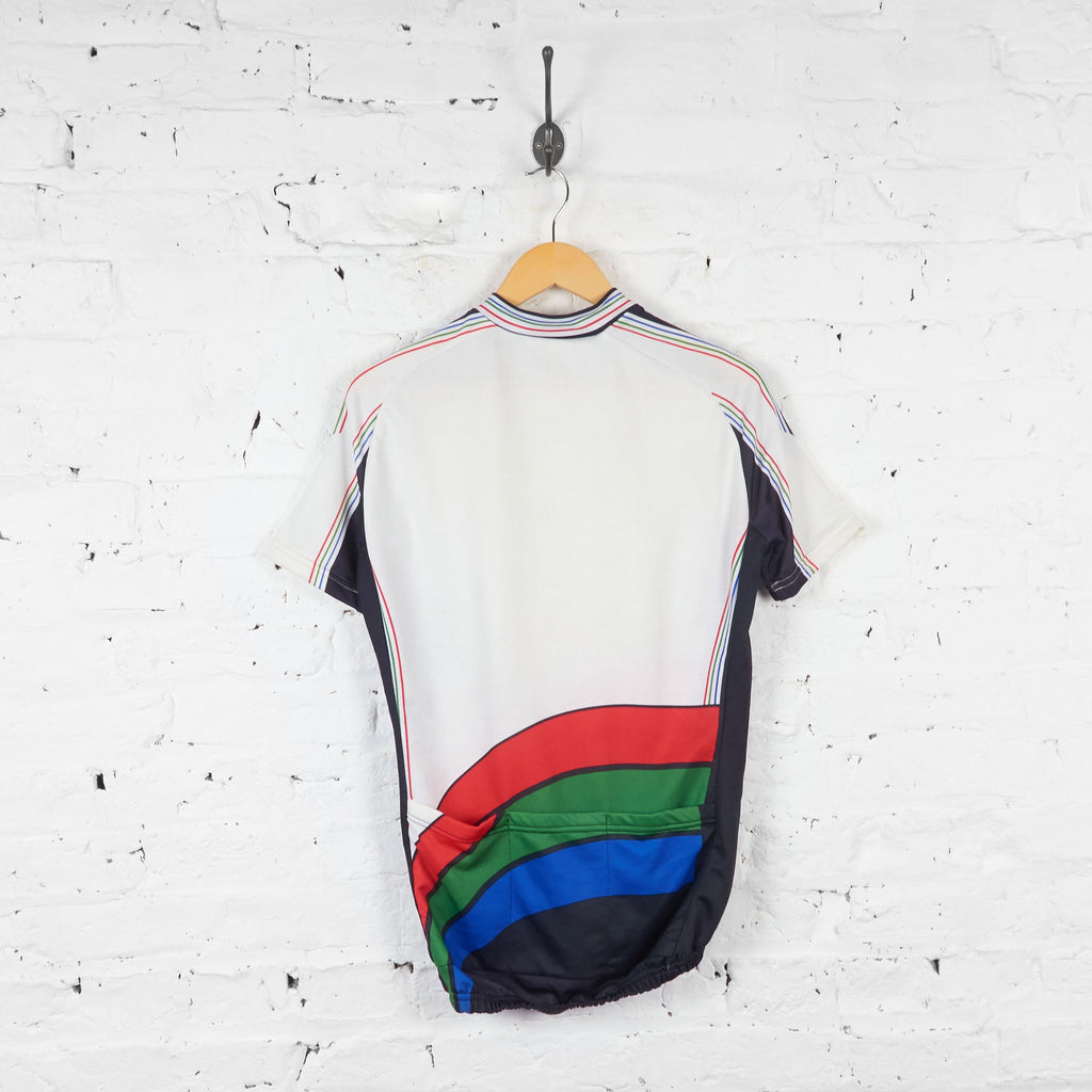 PDM Retro Cycling Jersey - White - L - Headlock