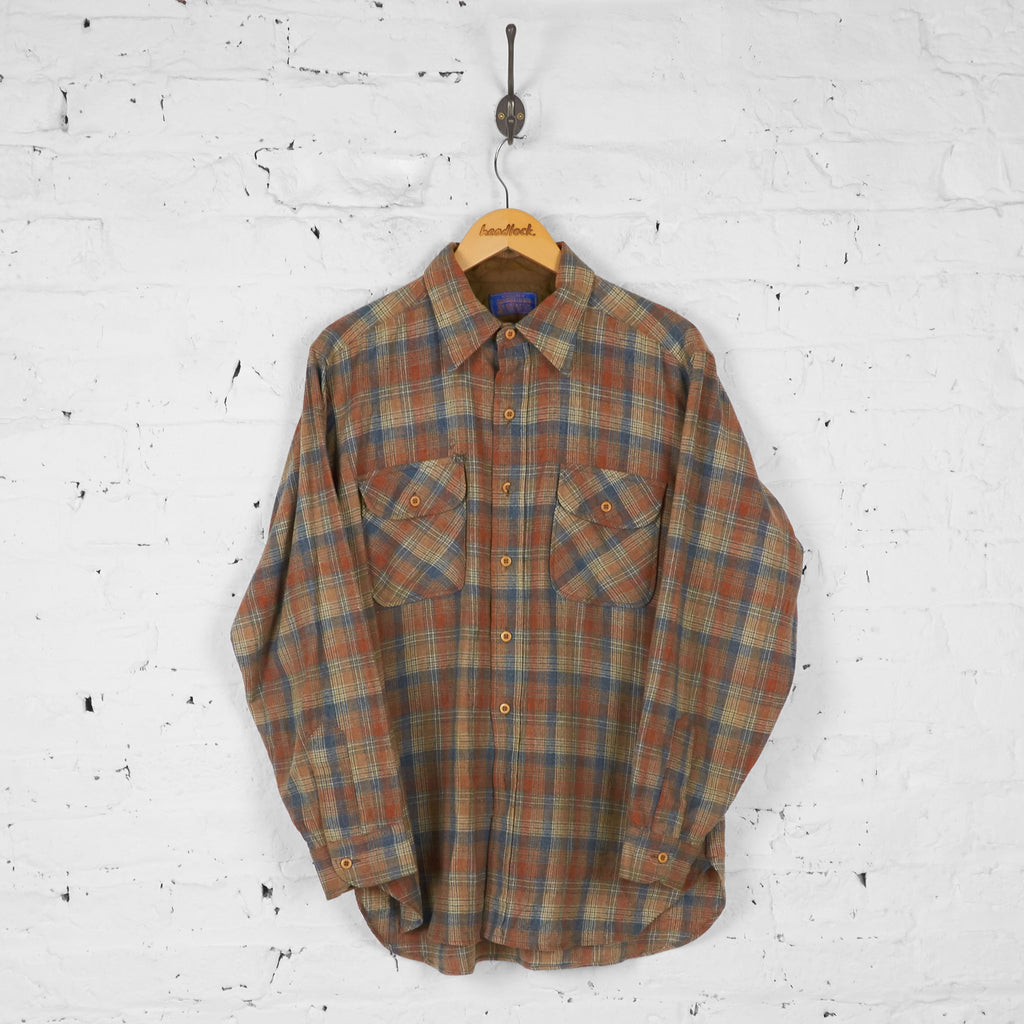 Pendleton Wool Check Shirt - Brown - L - Headlock
