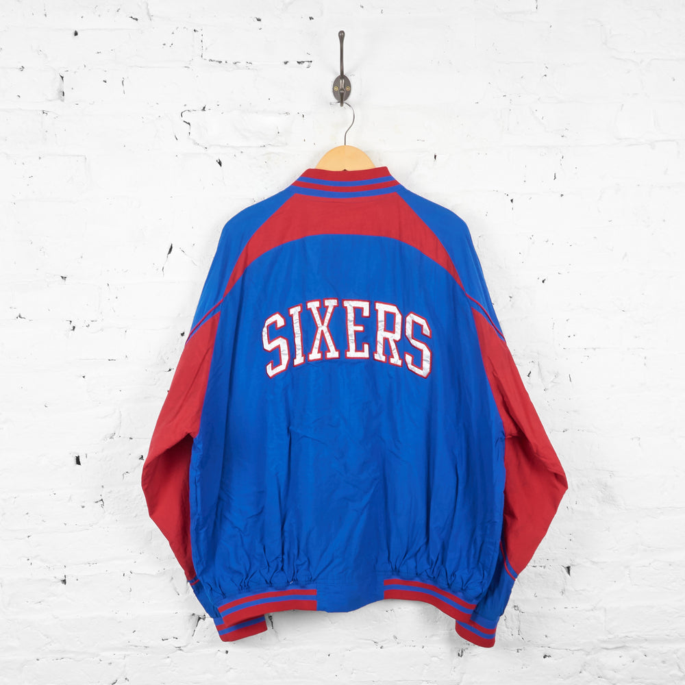 Philadelphia 76ers Basketball Bomber Jacket - Blue - XL - Headlock