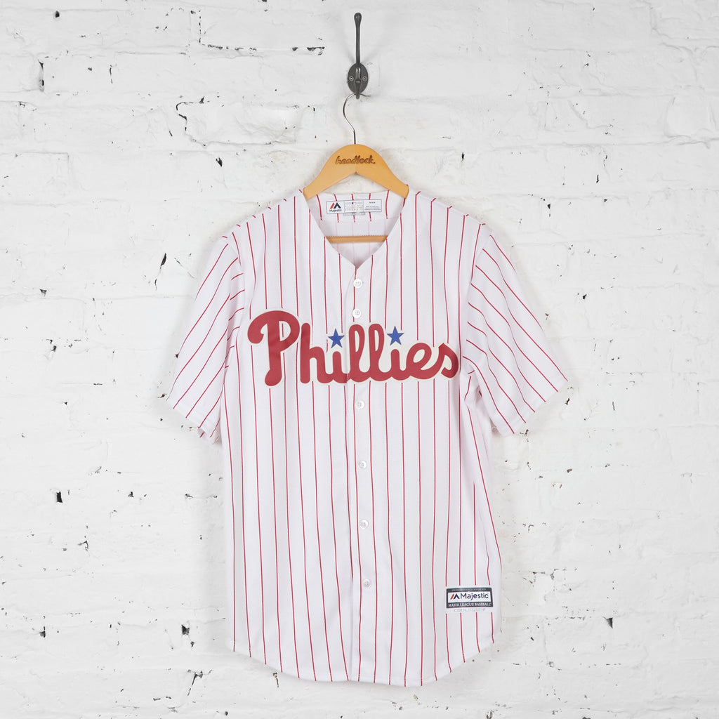 Phillies Franco Baseball Jersey Shirt - White - M - Headlock