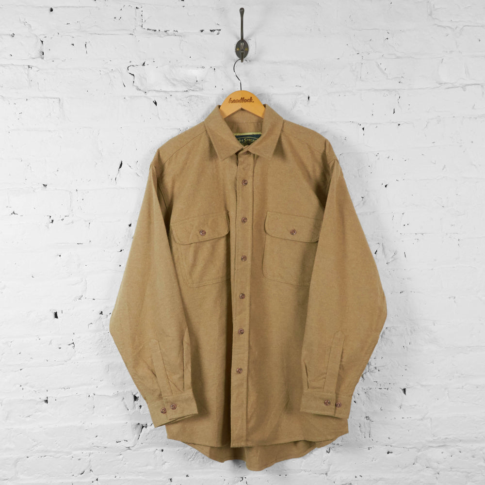 Plain Flannel Shirt - Brown - XL - Headlock