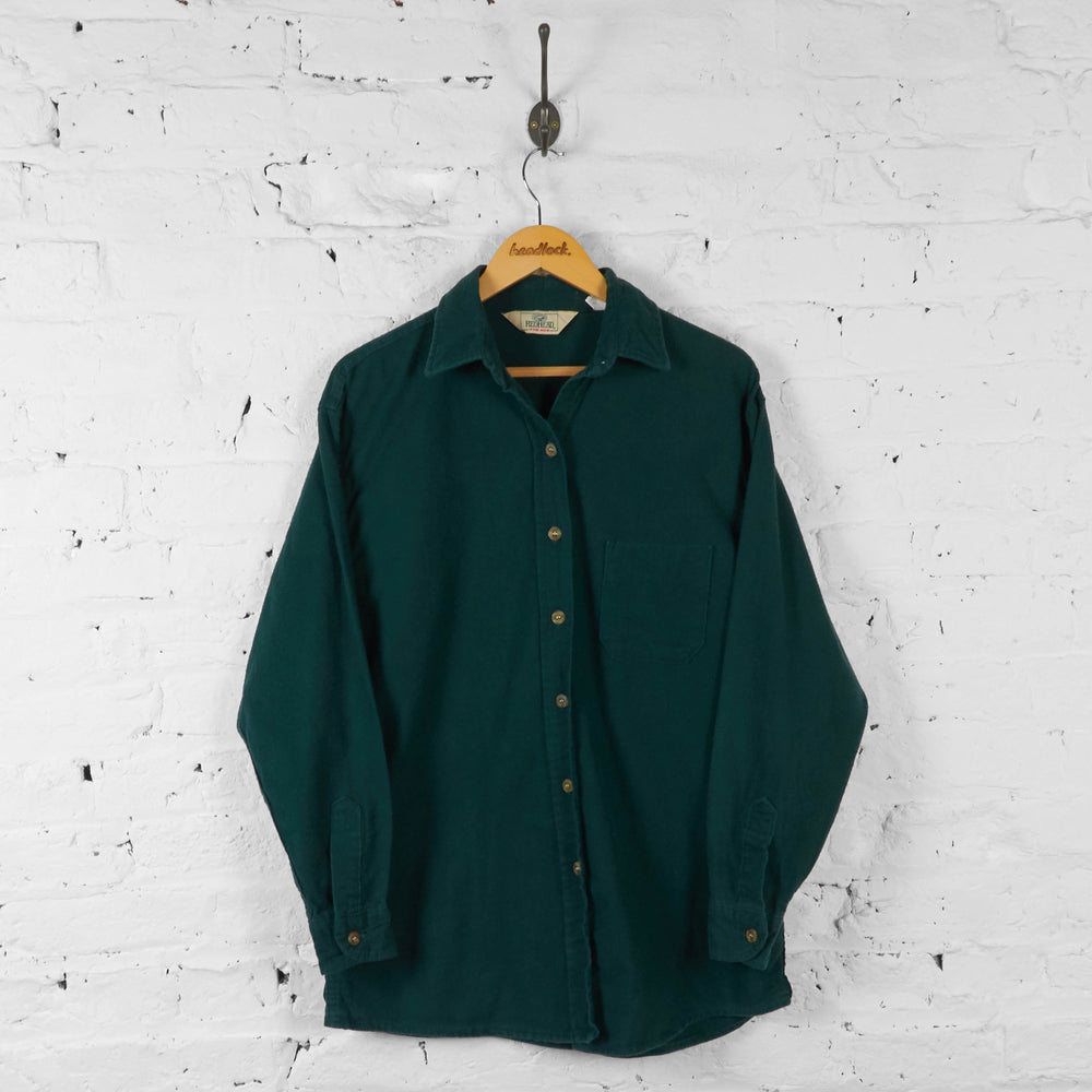 Plain Flannel Shirt - Green - L - Headlock