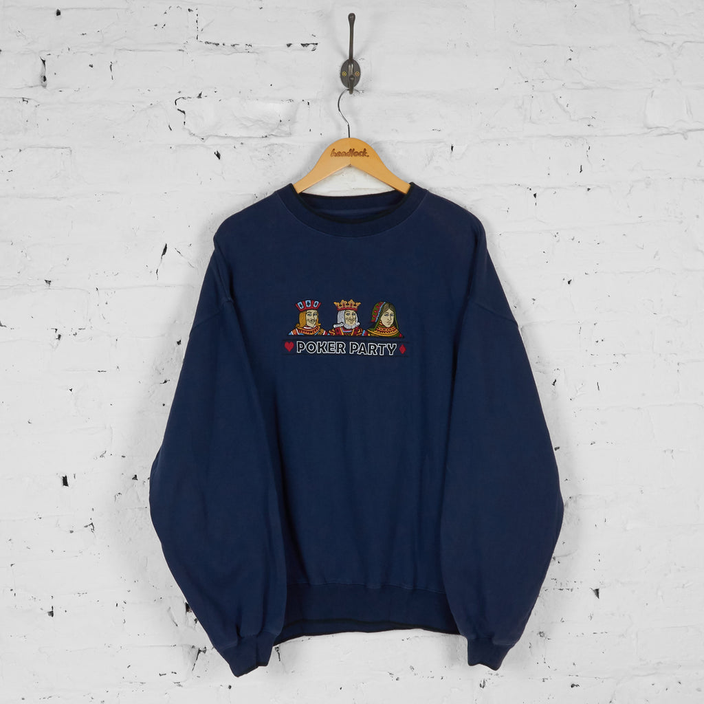 Poker Party Sweatshirt - Blue - XL - Headlock