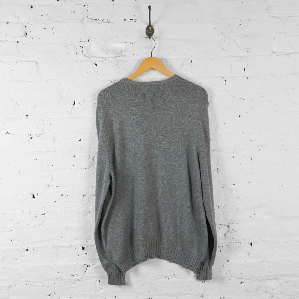 Ralph Lauren Knit Jumper - Grey - XL - Headlock
