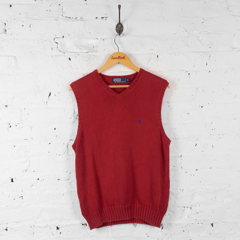 Ralph Lauren Knit Tank Top Jumper - Red - M