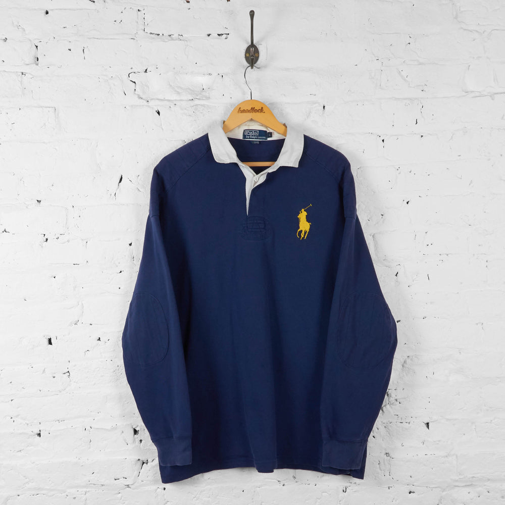 Ralph Lauren Rugby Polo Shirt - Blue - L - Headlock