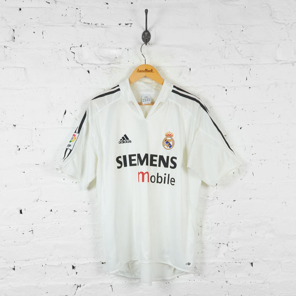 Real Madrid Adidas 2004 Home Football Shirt - White - M - Headlock