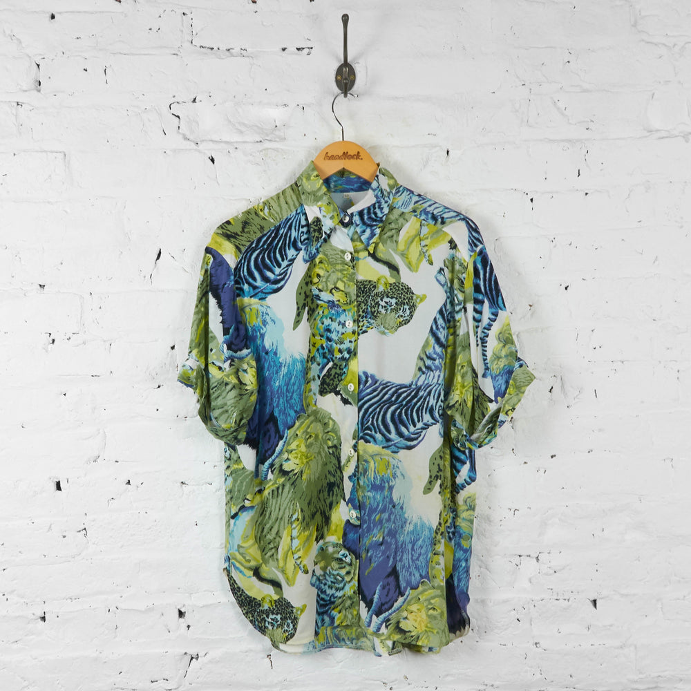 Safari Animals Party Shirt - White/Blue - L - Headlock