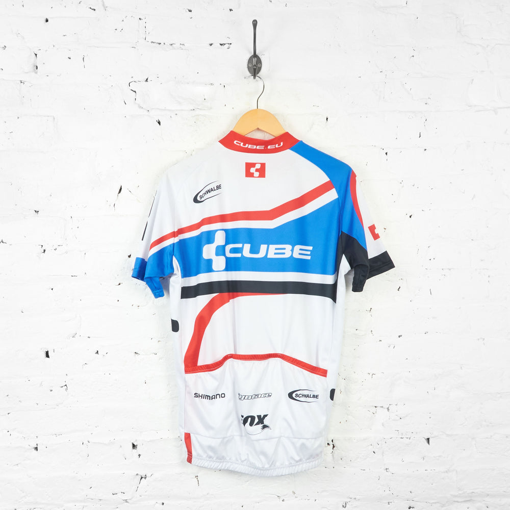 Shimano Cube Cycling Top Jersey - White/Blue/Red - XXL - Headlock