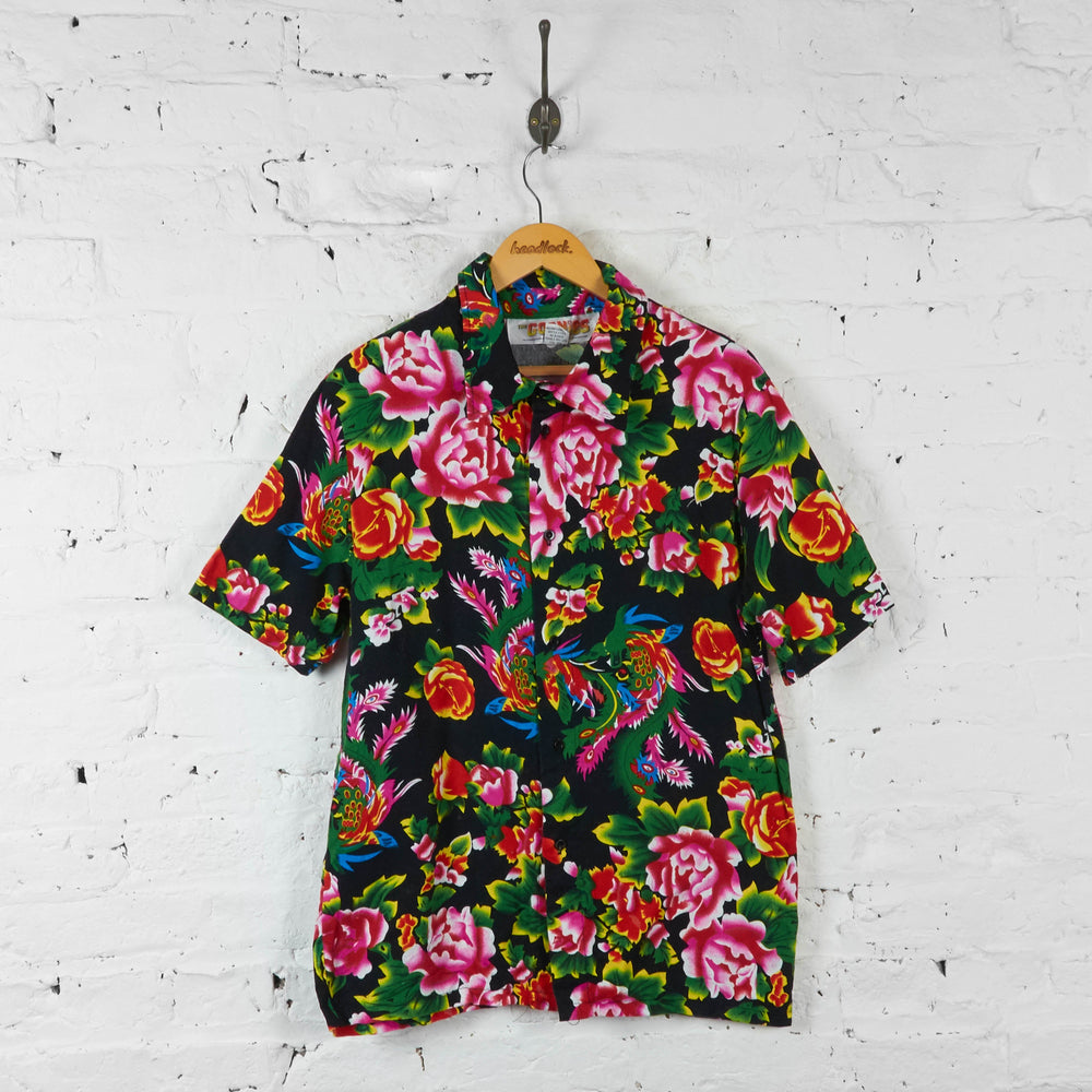 The Goonies Hawaiian Floral Shirt - Black - L - Headlock