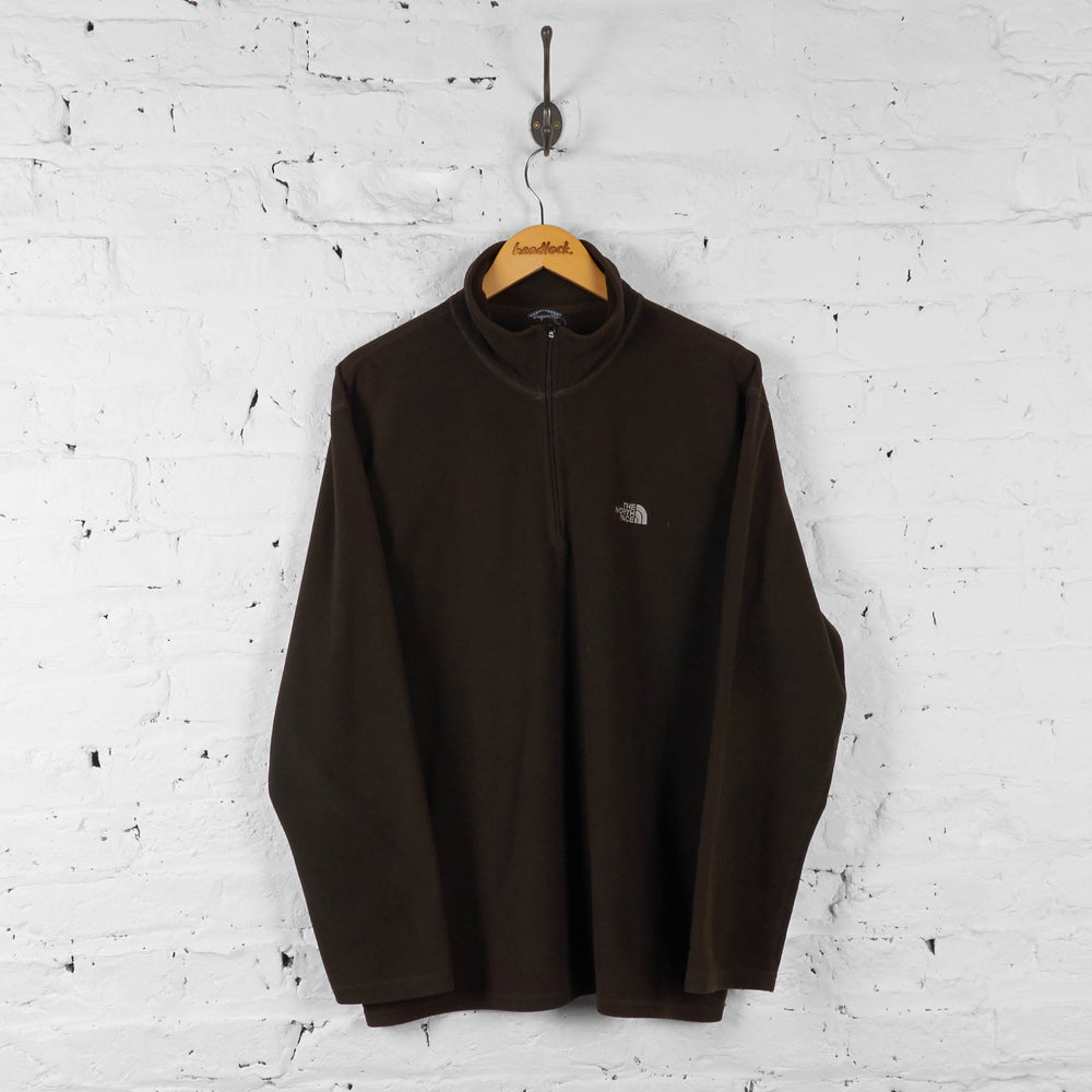 The North Face TKA 100 1/4 Zip Fleece - Brown - XL - Headlock