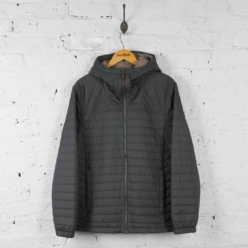Timberland Quilted Hooded Jacket - Grey - L - Headlock