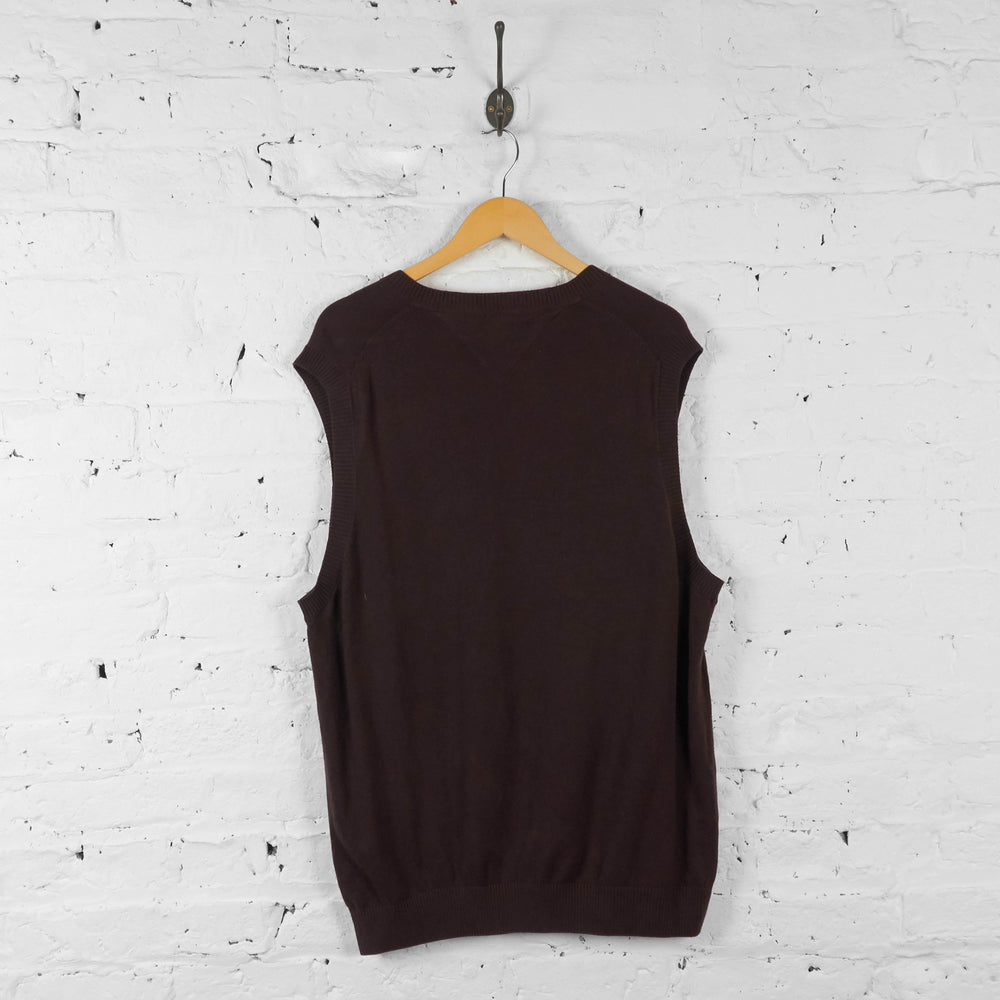 Tommy Hilfiger Knit Tank Top Jumper - Brown - XL - Headlock