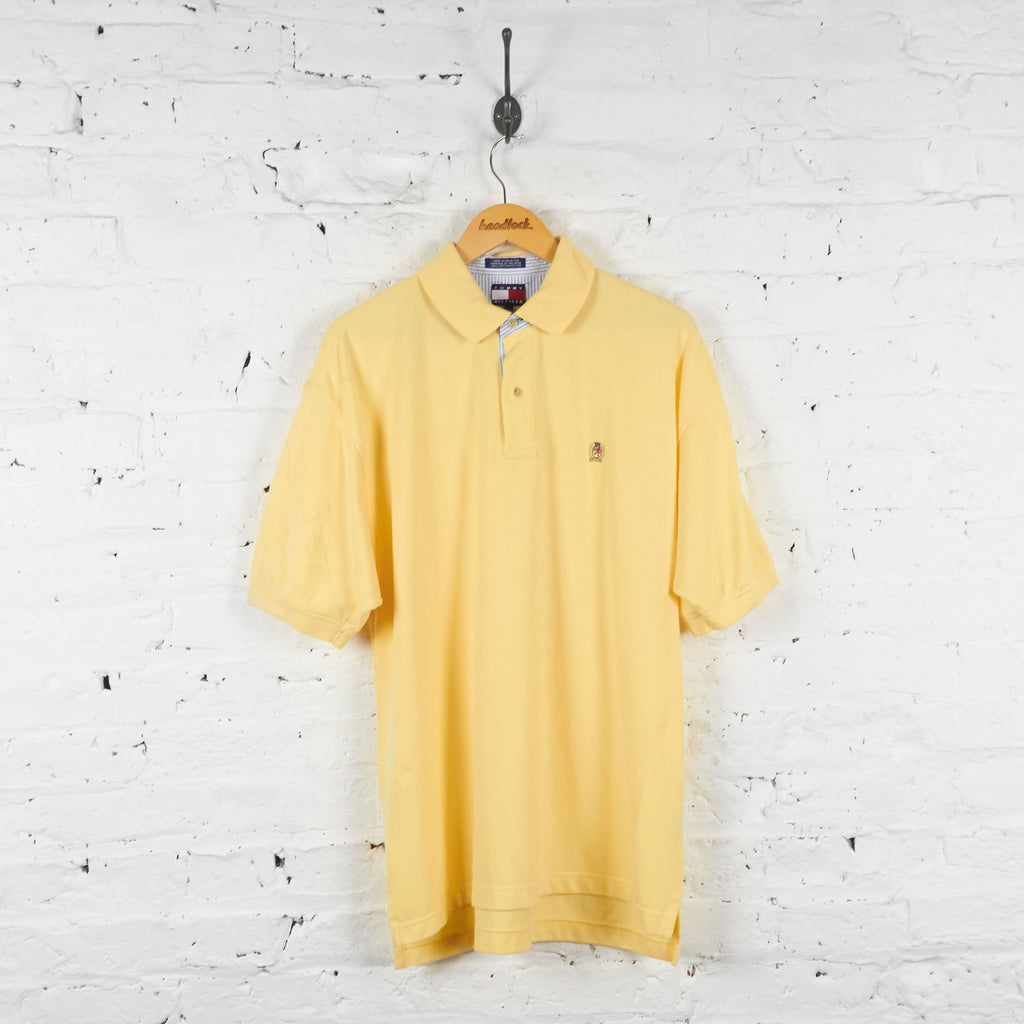 Tommy Hilfiger Polo Shirt - Yellow - L - Headlock