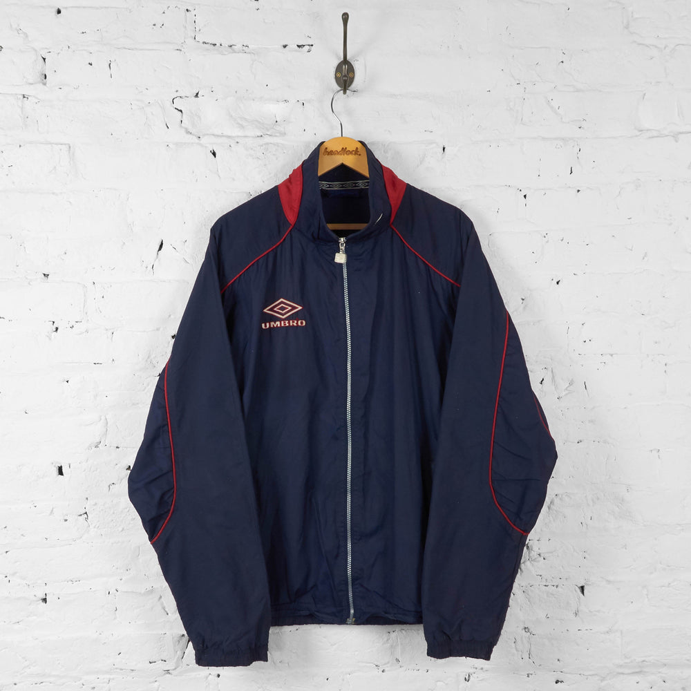 Umbro Shell Tracksuit Top Jacket - Blue - L - Headlock