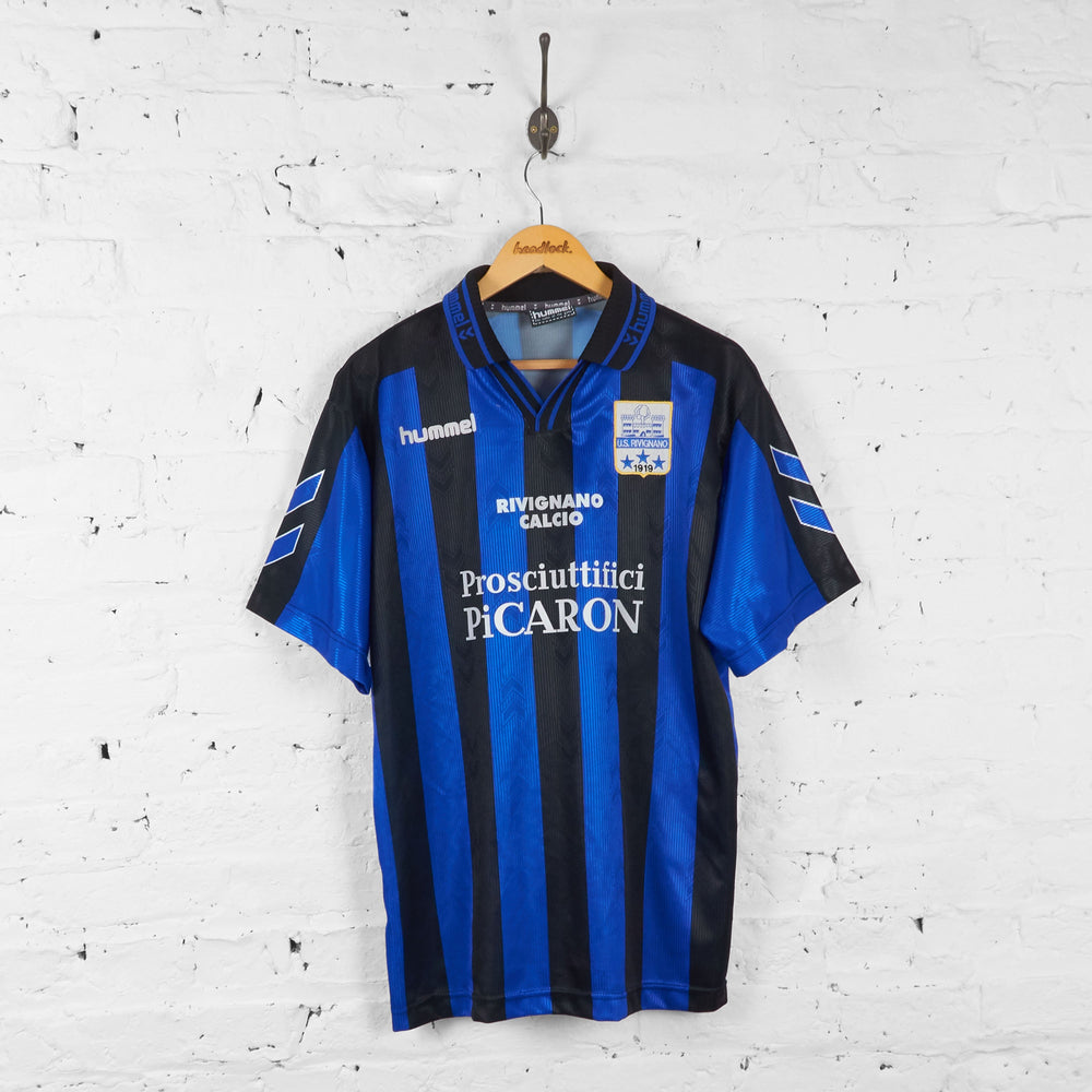 US Rivignano Hummel Football Shirt - Blue/Black - L - Headlock