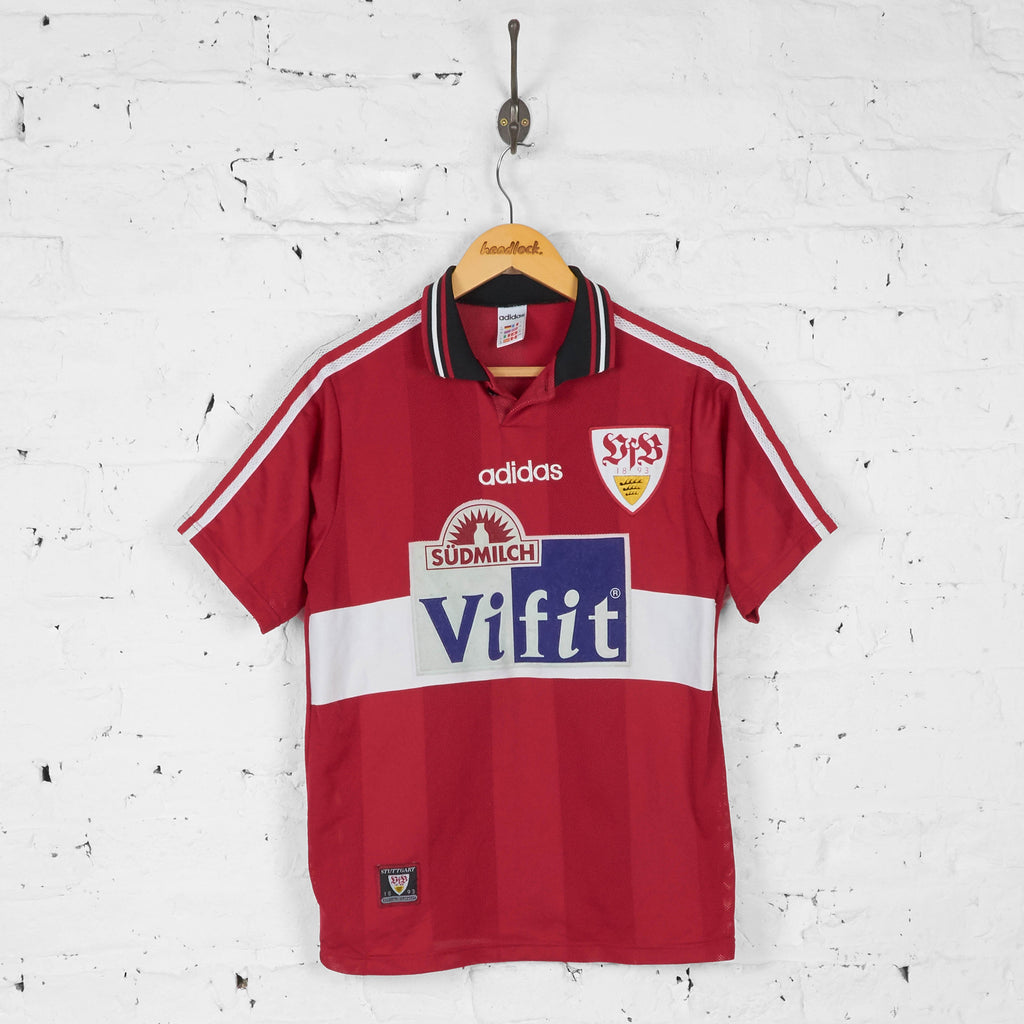 VFB Stuttgart 1996 Away Football Shirt - Red - XS - Headlock