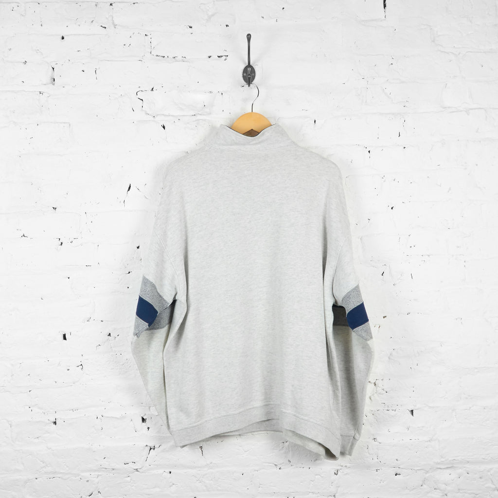 Vintage 1/4 Zip Up Champion Sweatshirt - Grey - L - Headlock