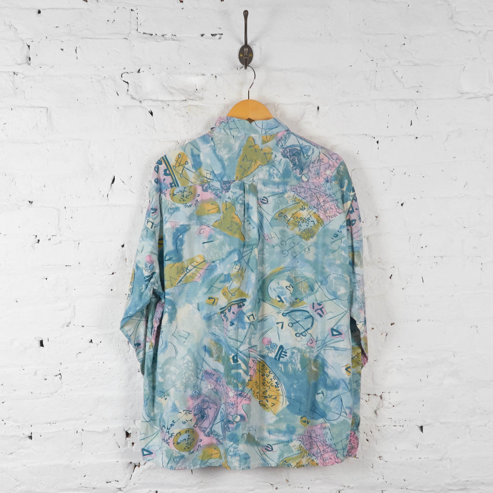 Vintage 80's Pattern Shirt - Blue - XL - Headlock
