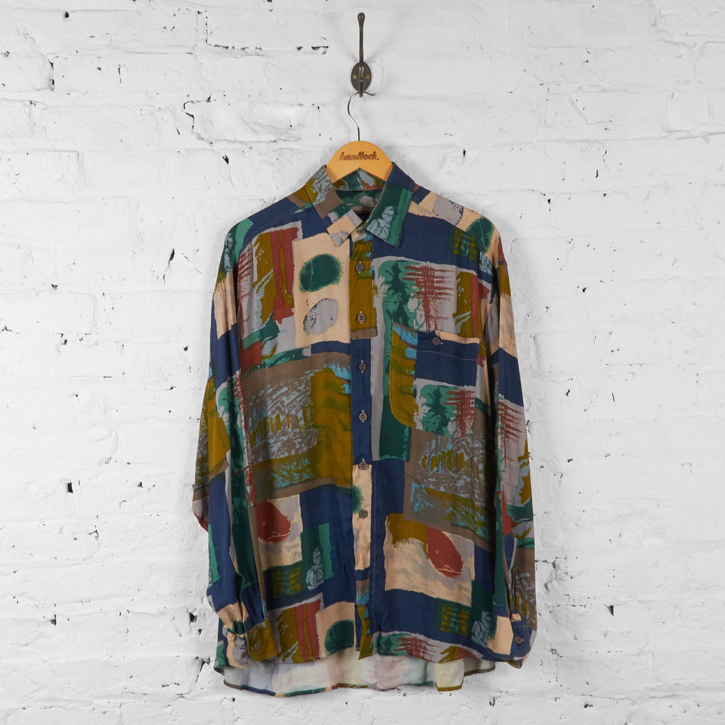 Vintage Abstract Pattern Shirt - Multi - L - Headlock