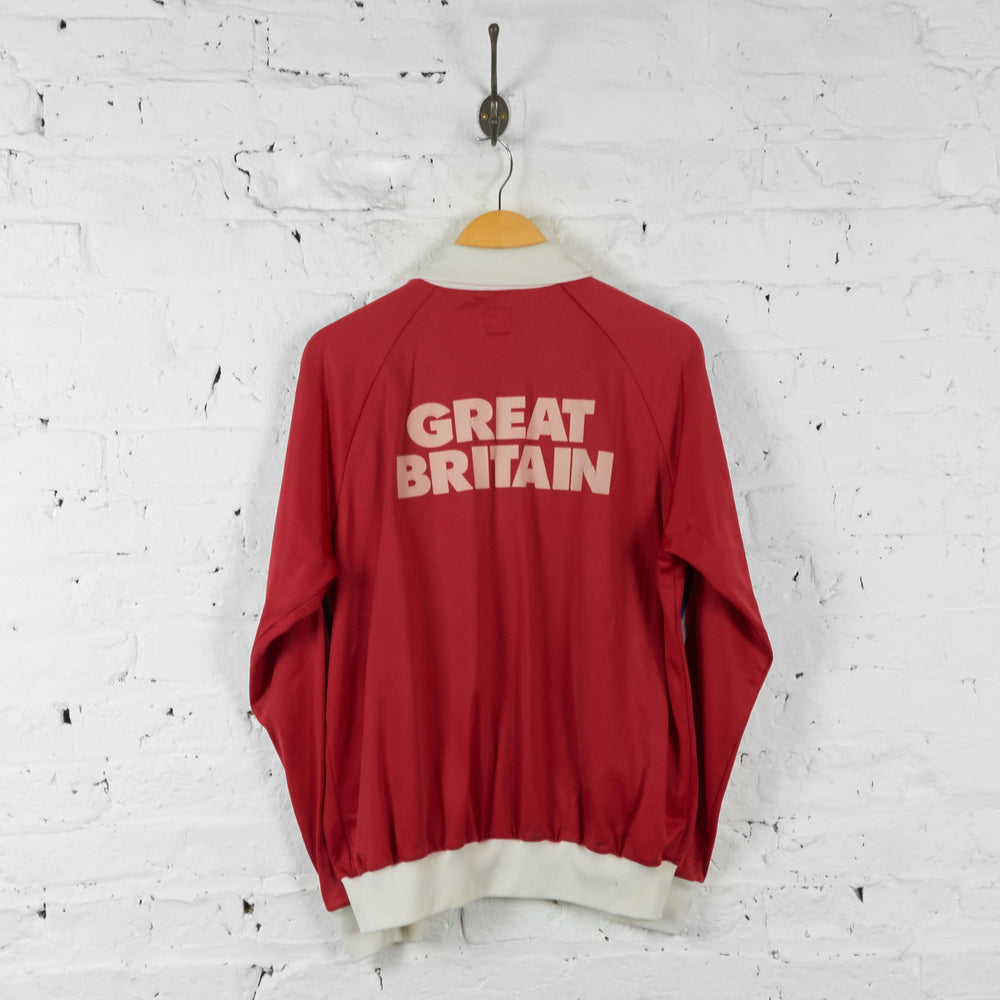 Vintage Adidas Great Britain Tracksuit Top - Red - L - Headlock