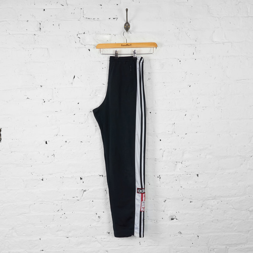 Vintage Adidas Tracksuit Bottoms - Black - M - Headlock
