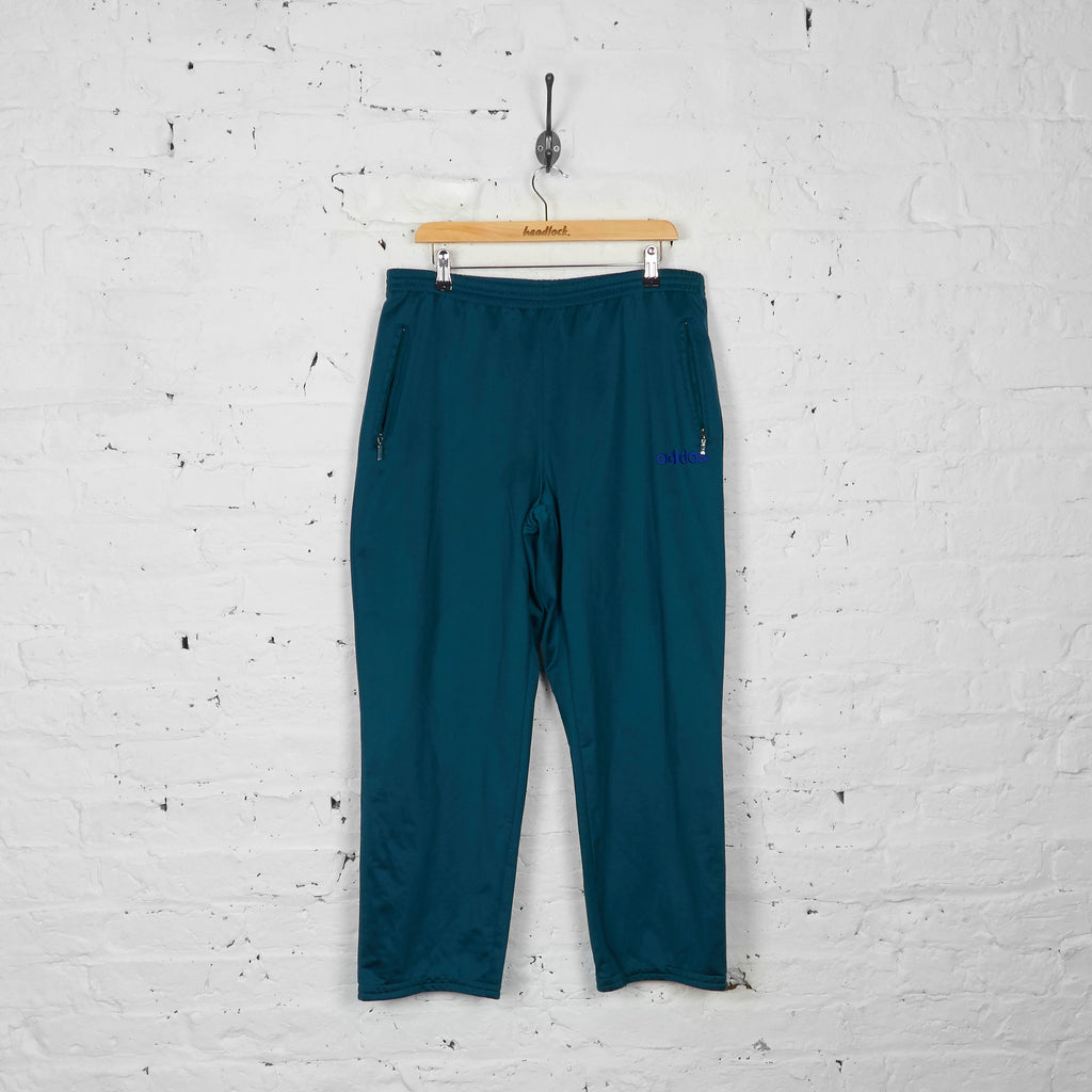 Vintage Adidas Tracksuit Bottoms - Green - L - Headlock
