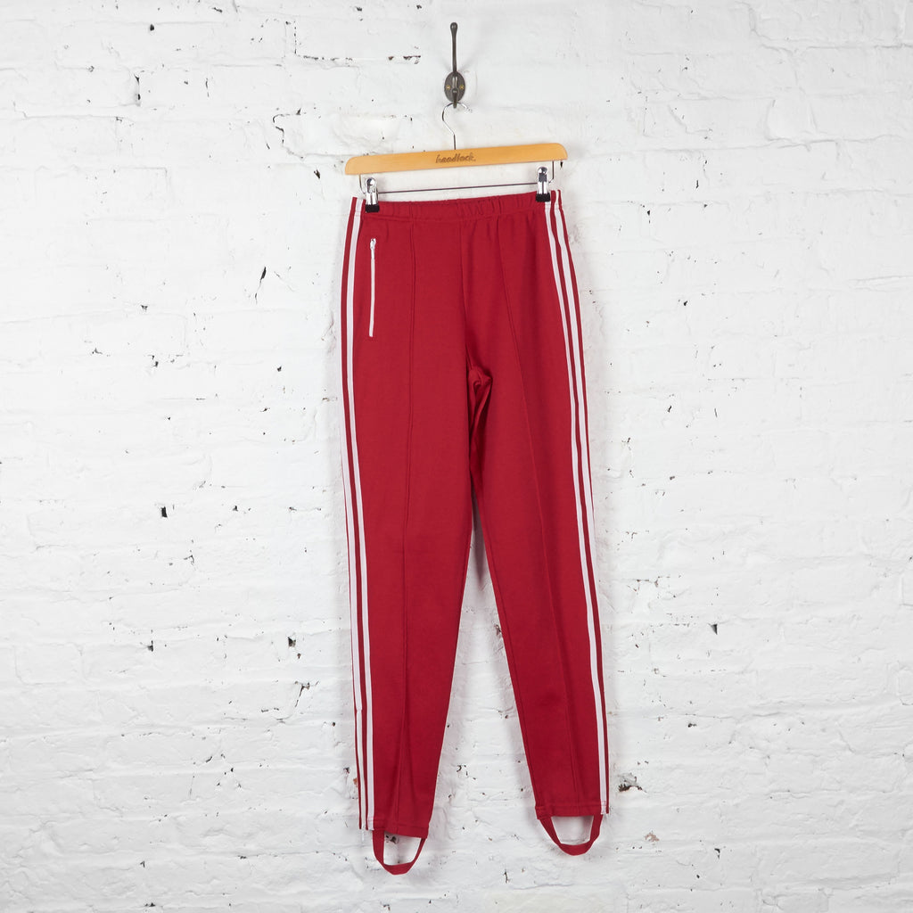 Vintage Adidas Tracksuit Bottoms - Red - XS - Headlock