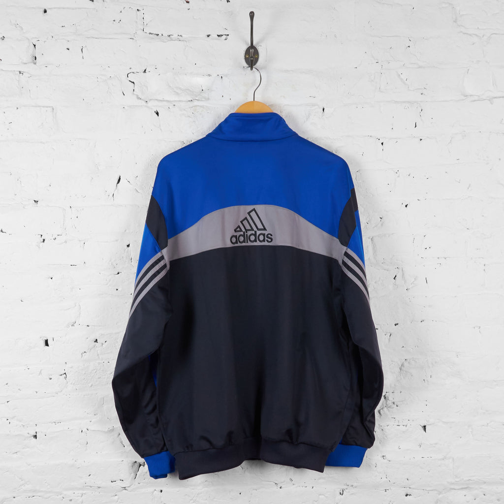 Vintage Adidas Tracksuit Top - Blue/Black - L - Headlock
