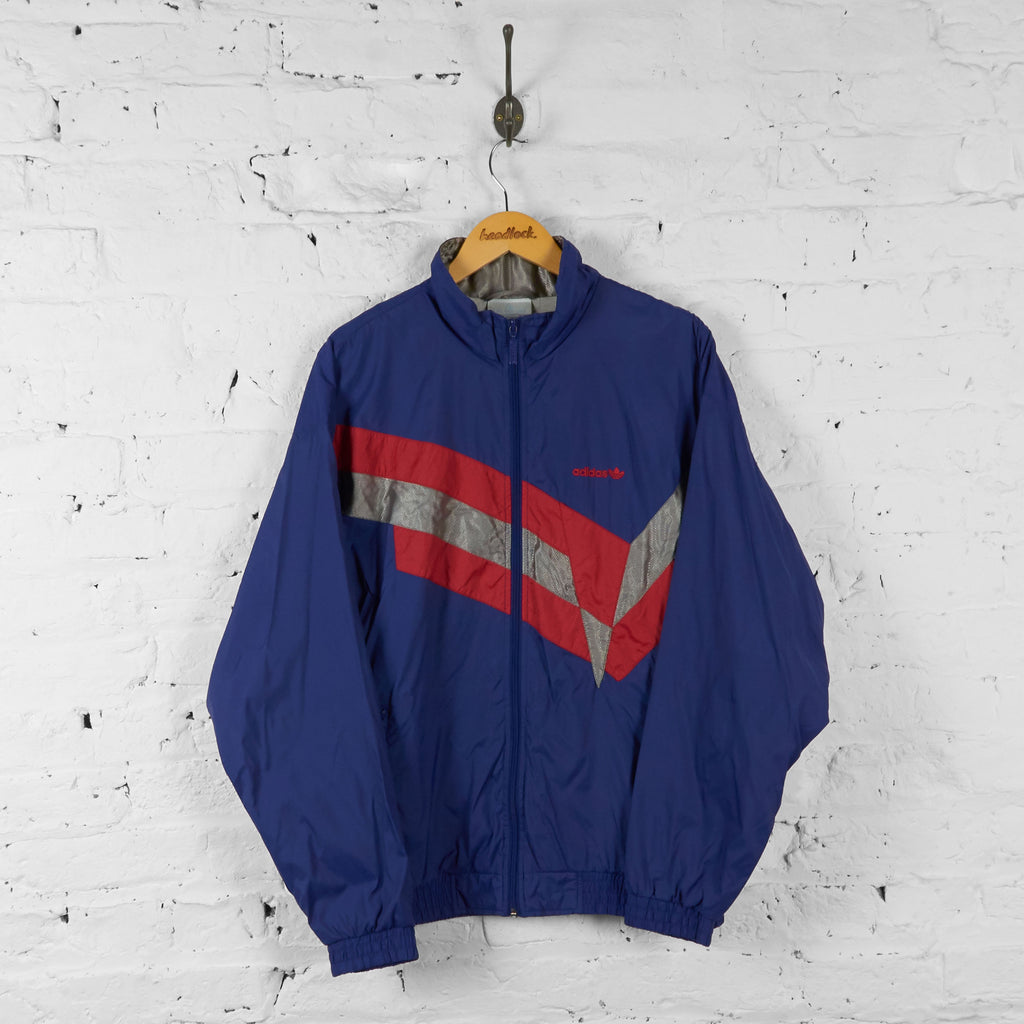 Vintage Adidas Tracksuit Top - Blue/Red - L - Headlock