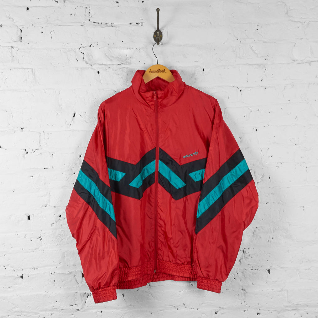 Vintage Adidas Tracksuit Top - Red - L - Headlock