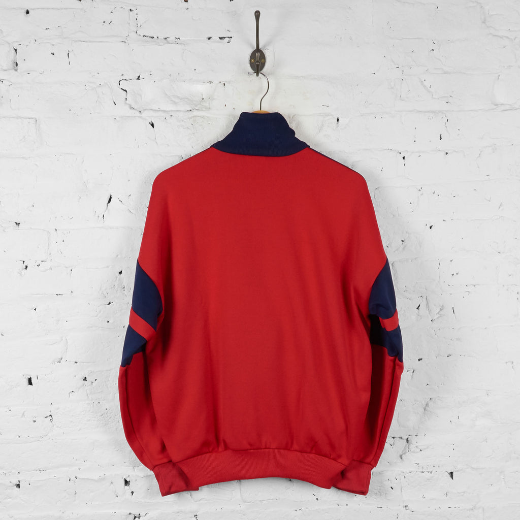 Vintage Adidas Tracksuit Top - Red/Navy - M - Headlock