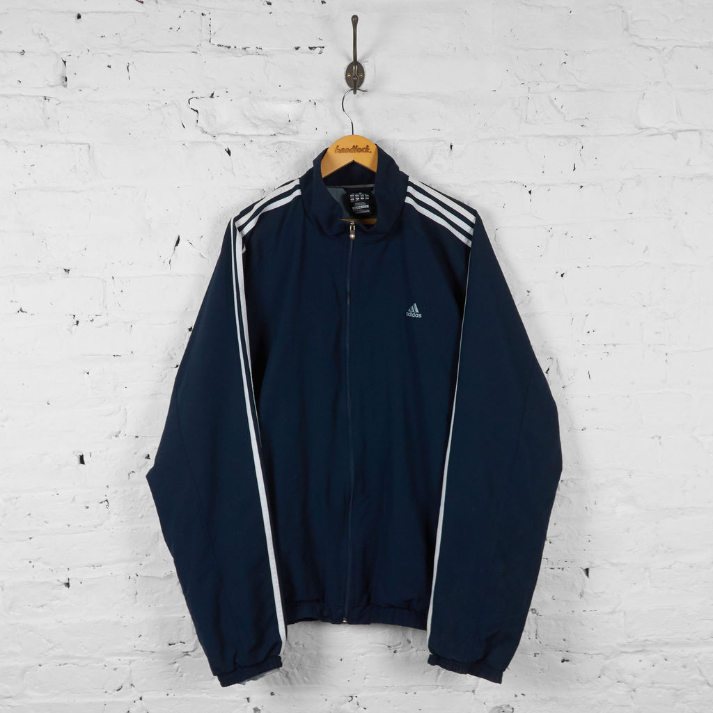 Vintage Adidas Windbreaker Tracksuit Top - Navy - XXL - Headlock