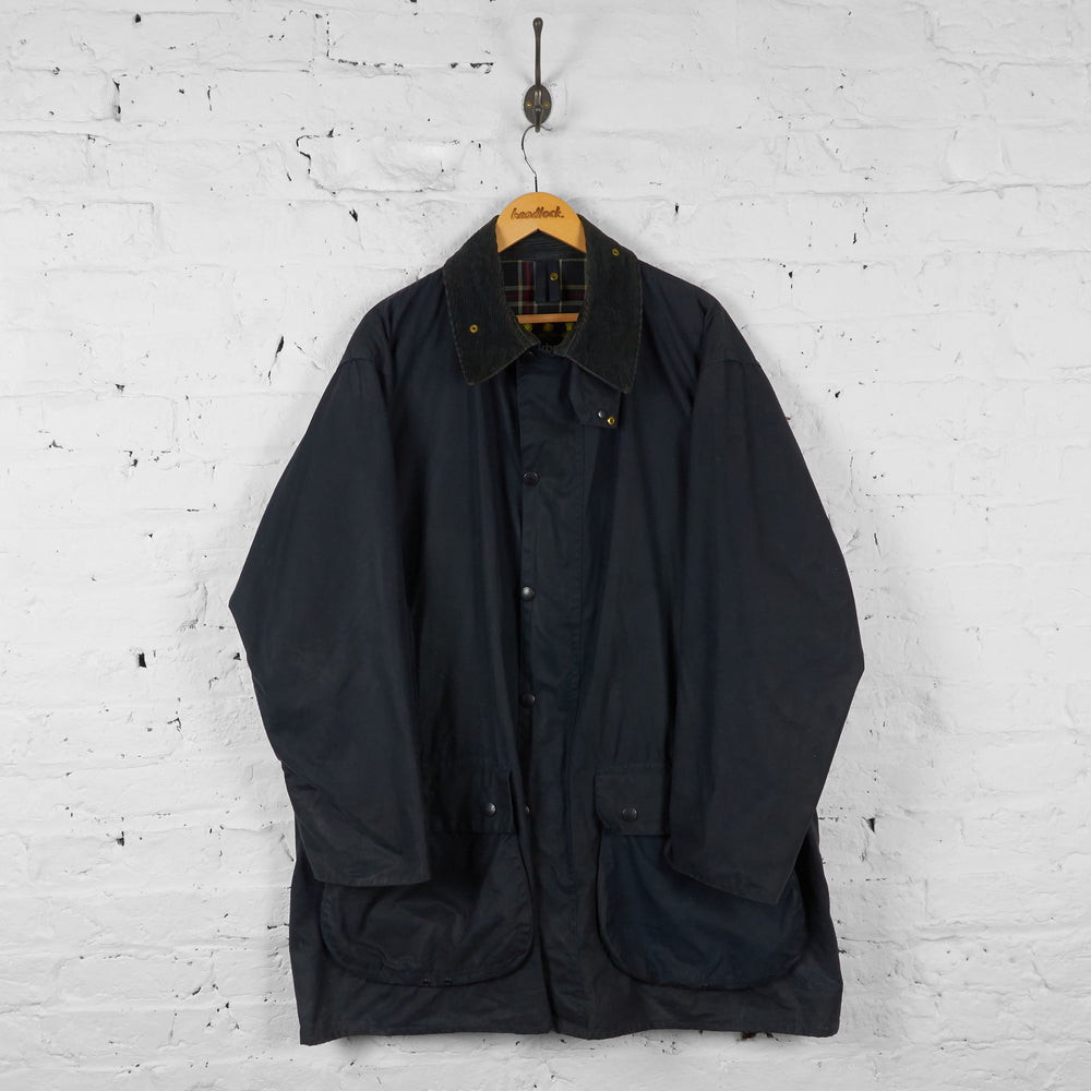 Vintage Barbour Border Jacket - Black - XL - Headlock