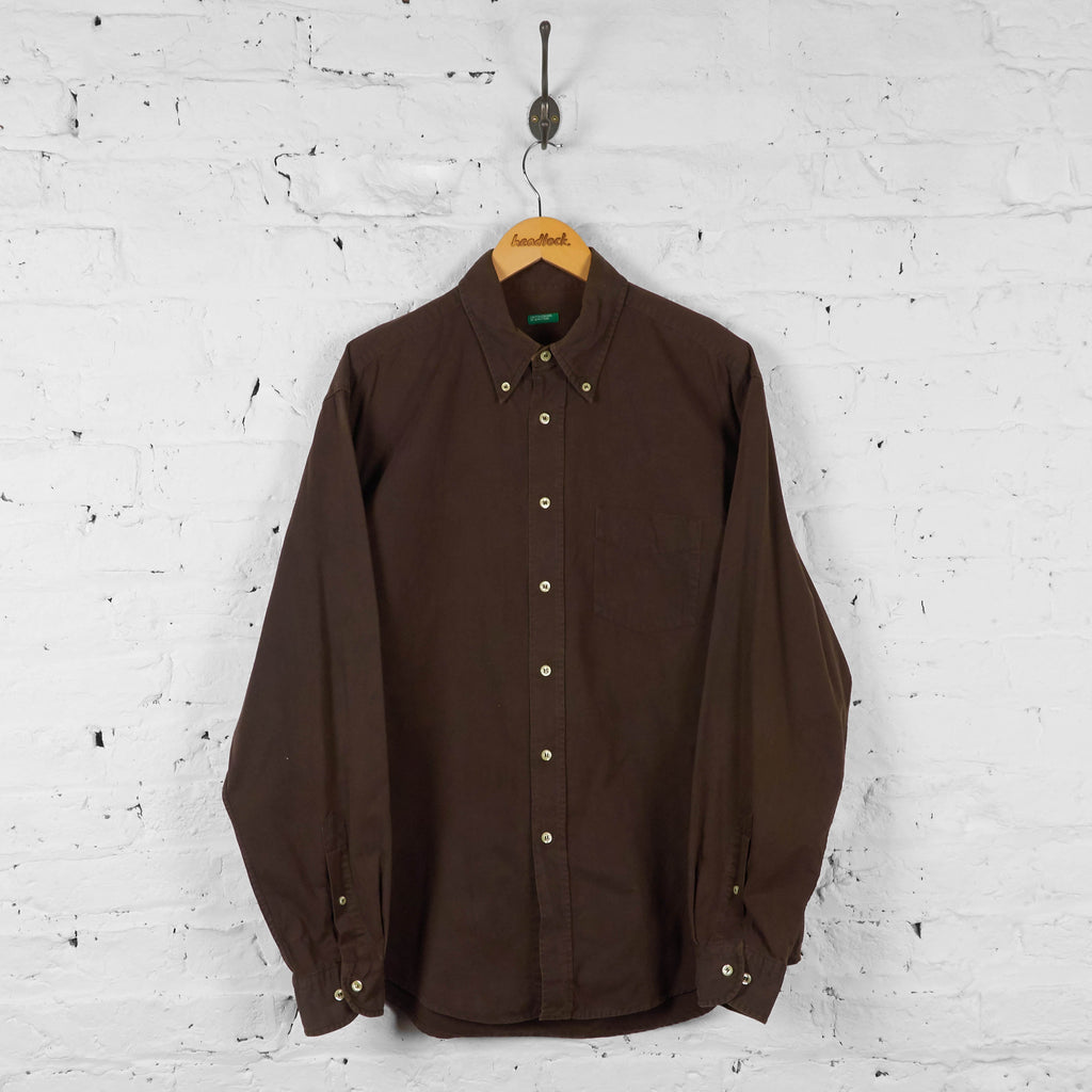 Vintage Benetton Shirt - Brown - XL - Headlock