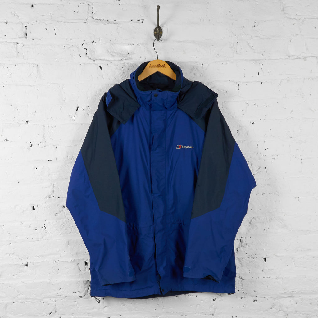 Vintage Berghaus Hooded Jacket - Blue - L - Headlock