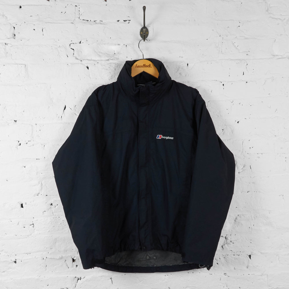 Vintage Berghaus Hooded Outdoor Jacket - Black - M - Headlock