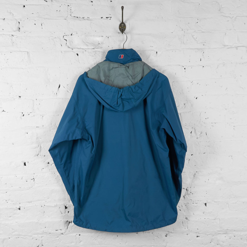 Vintage Berghaus Waterproof Rain Jacket - Blue - L - Headlock
