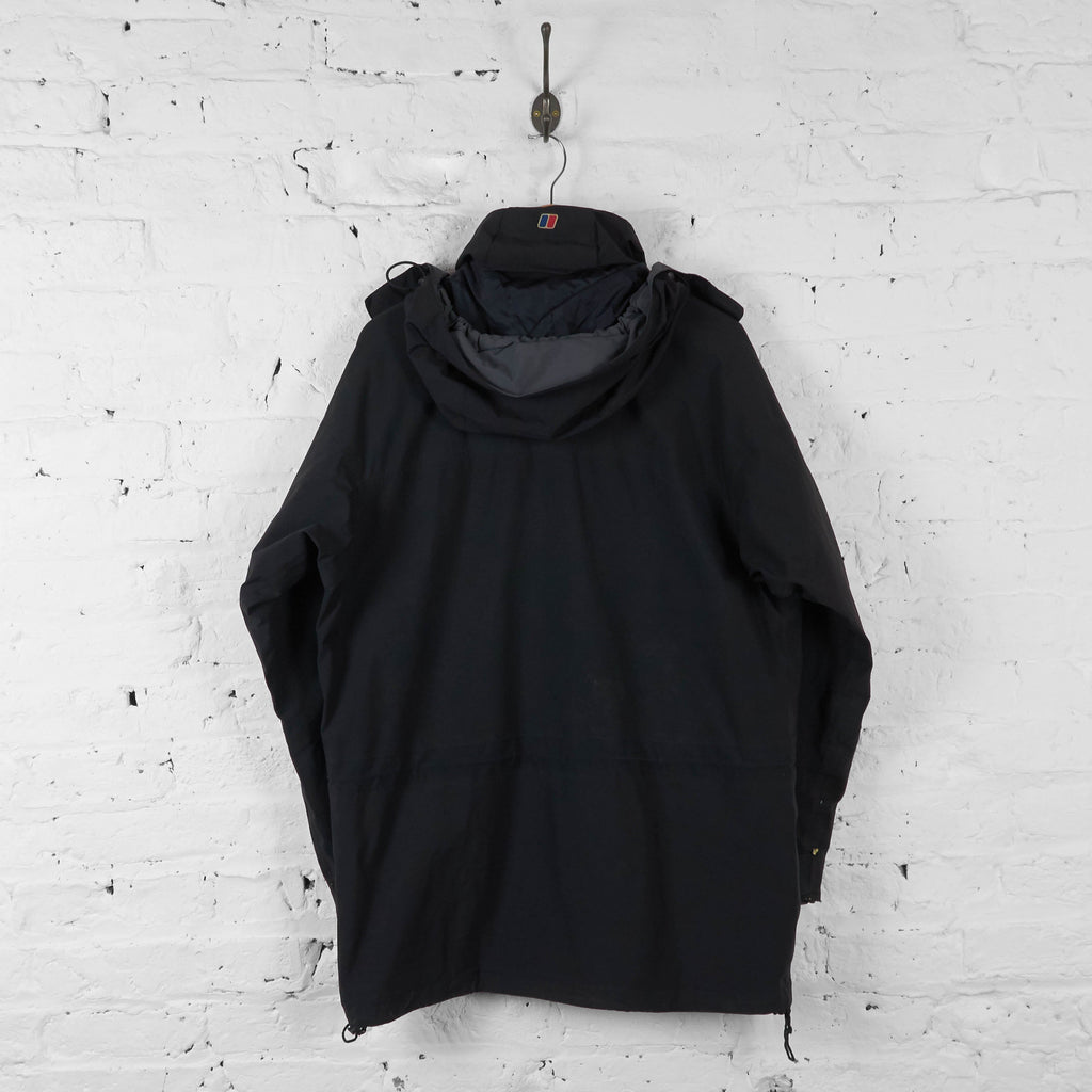 Vintage Berghuas Hooded Outdoor Jacket - Black - M - Headlock