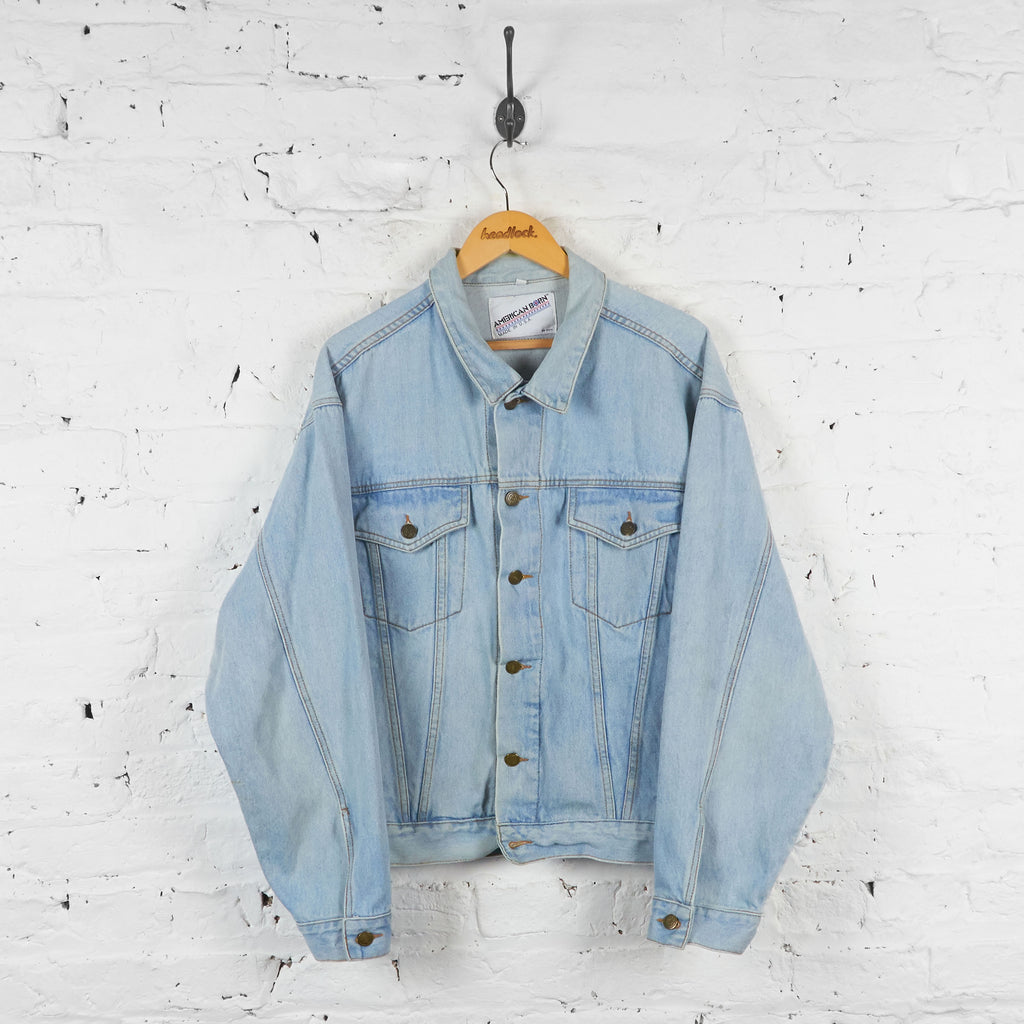Vintage Camel Denim Jacket - Blue - L - Headlock