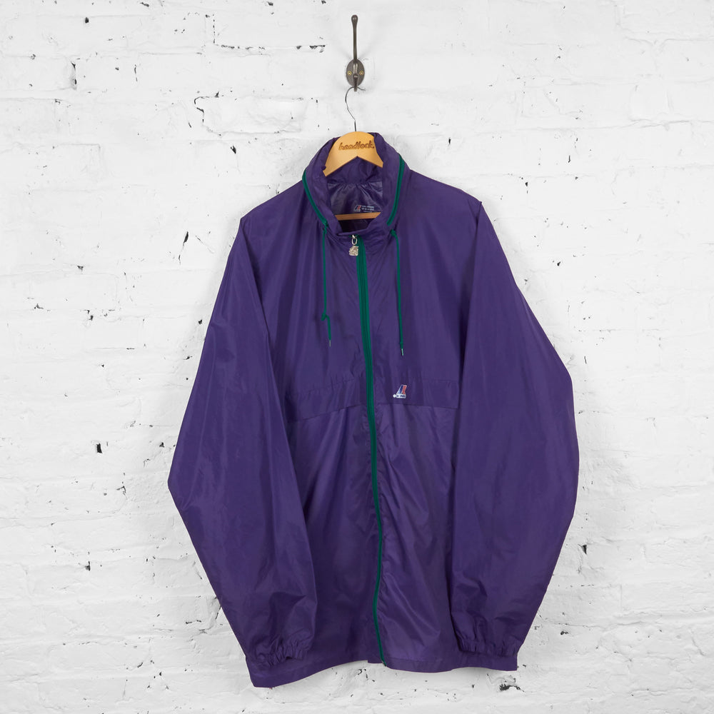 Vintage K-Way Cagoule Rain Jacket - Purple - XL - Headlock