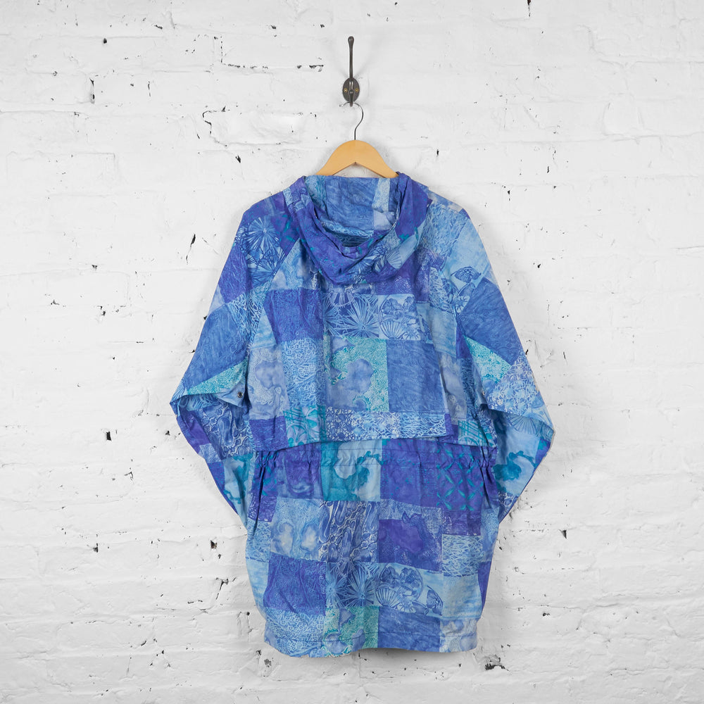 Vintage K-Way Patterned Cagoule - Blue - L - Headlock