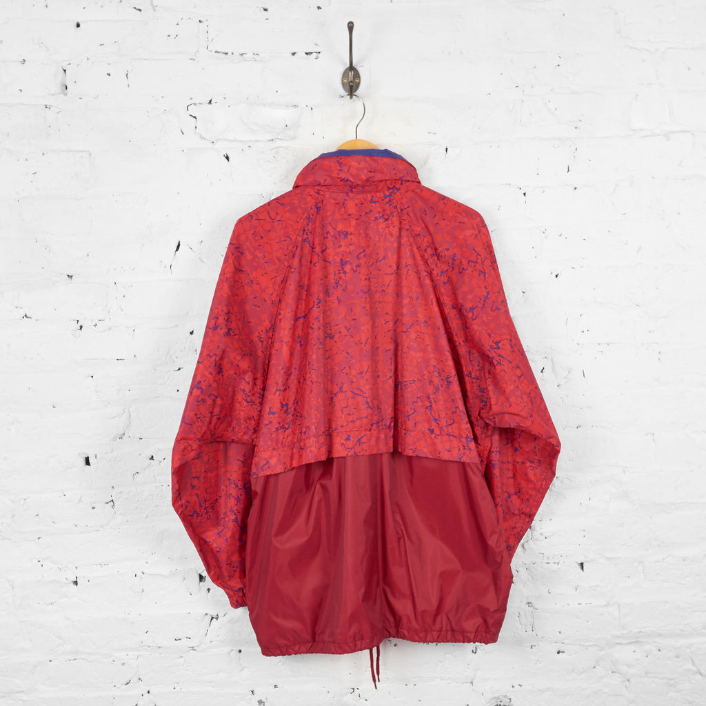 Vintage K-Way Rain Jacket Cagoule - Red - L - Headlock