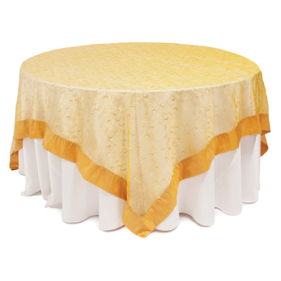Surnappe Organza broderies Or Bordure Or