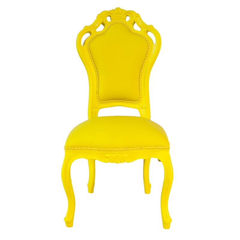 Chaise Baroque - Jaune