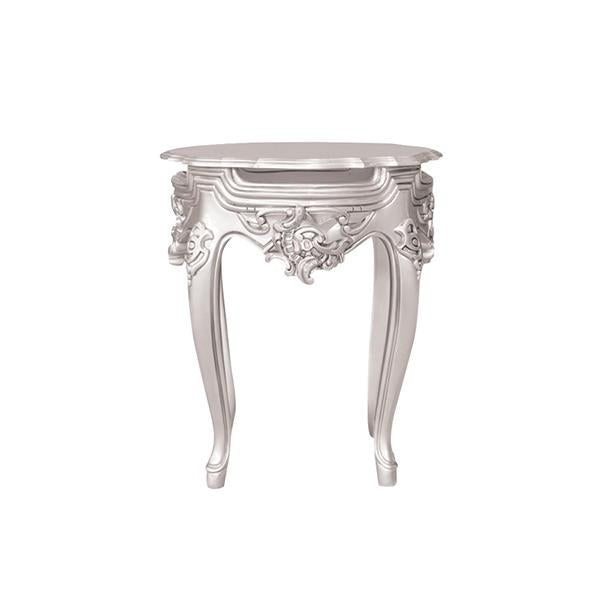 Table D'appoint Style Baroque - Argent
